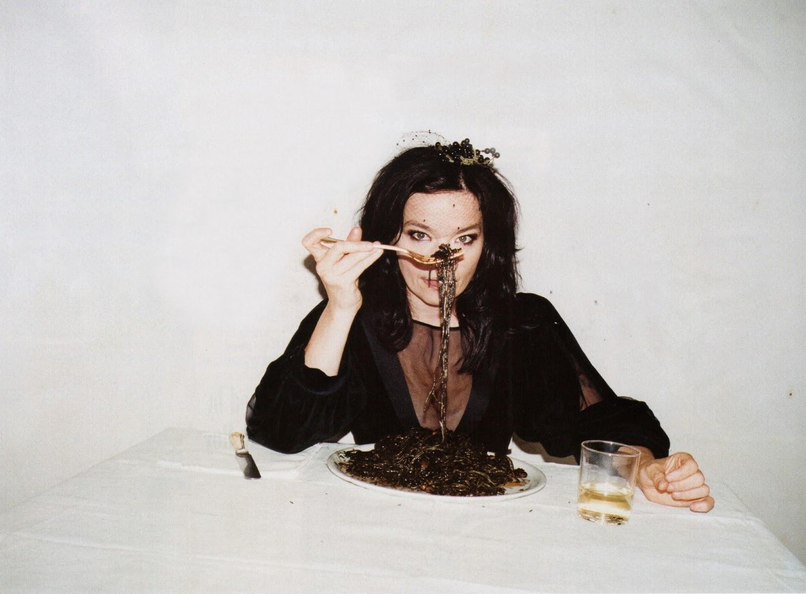 Dream Date: Björk in Black, With Berries in Her Hair.