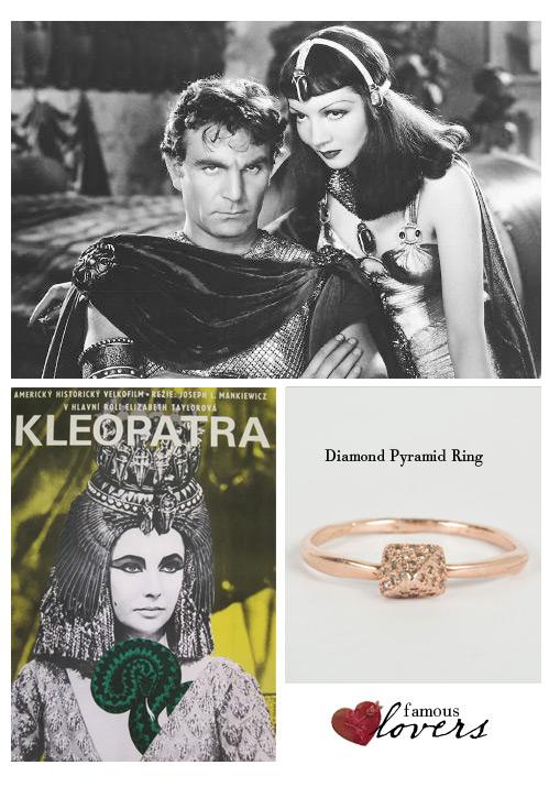 Famous Lovers: Antony and Cleopatra.