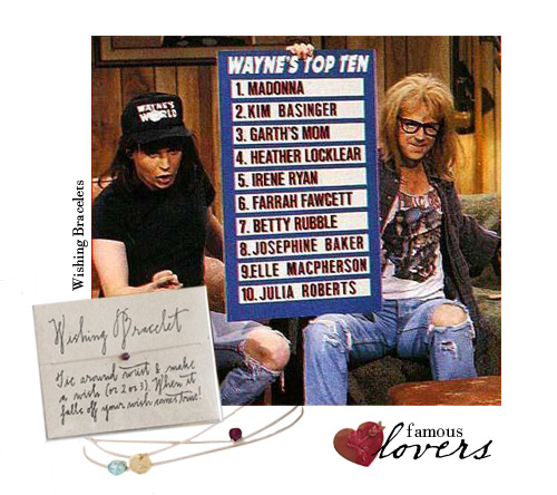 Famous Lovers: Wayne and Garth.