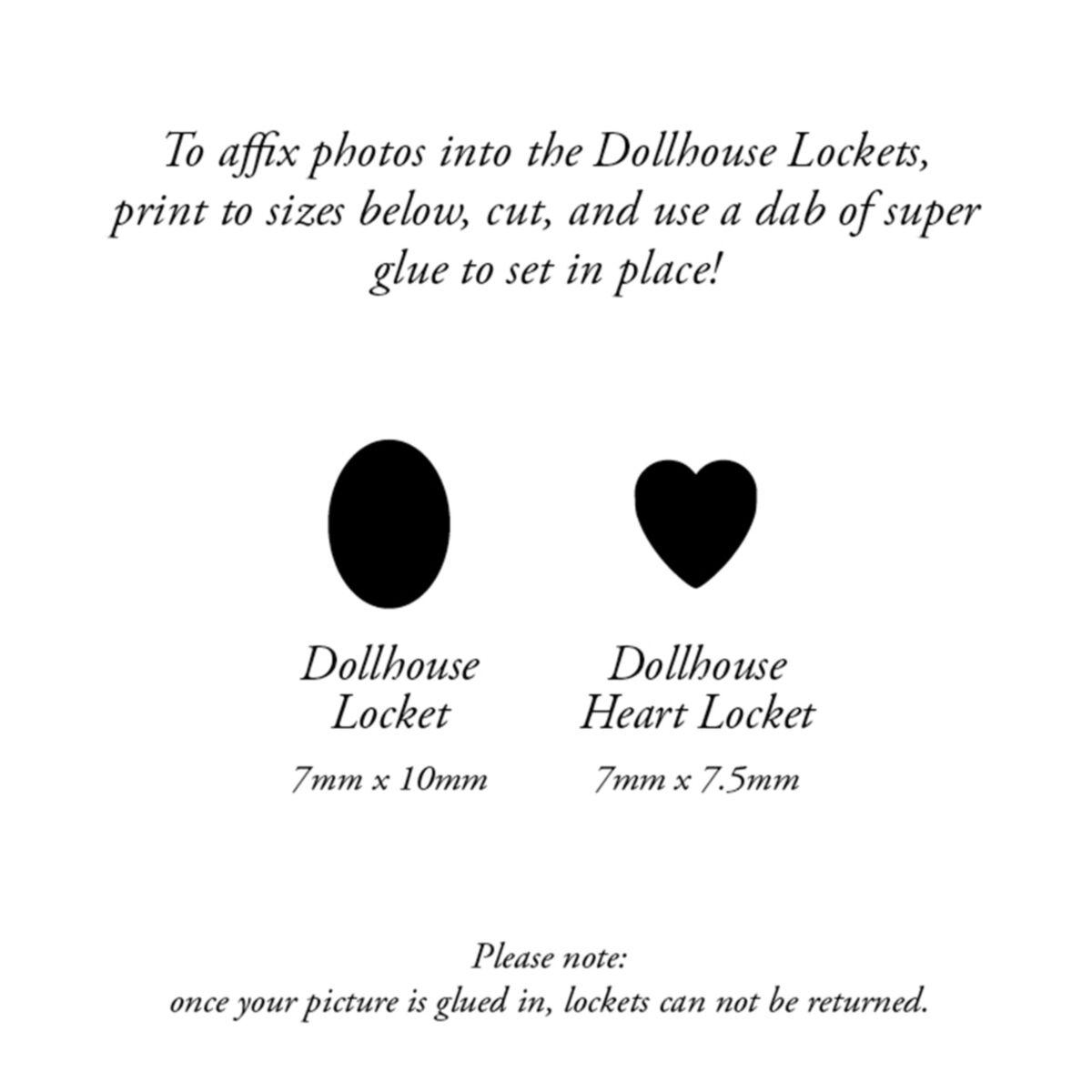 Dollhouse Locket, Silver image