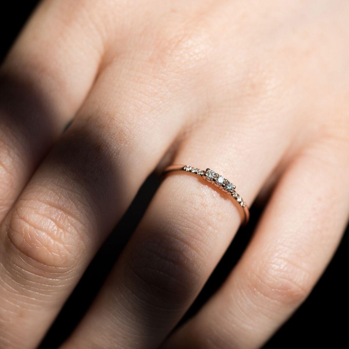 Three Diamond Equilibrium Ring image