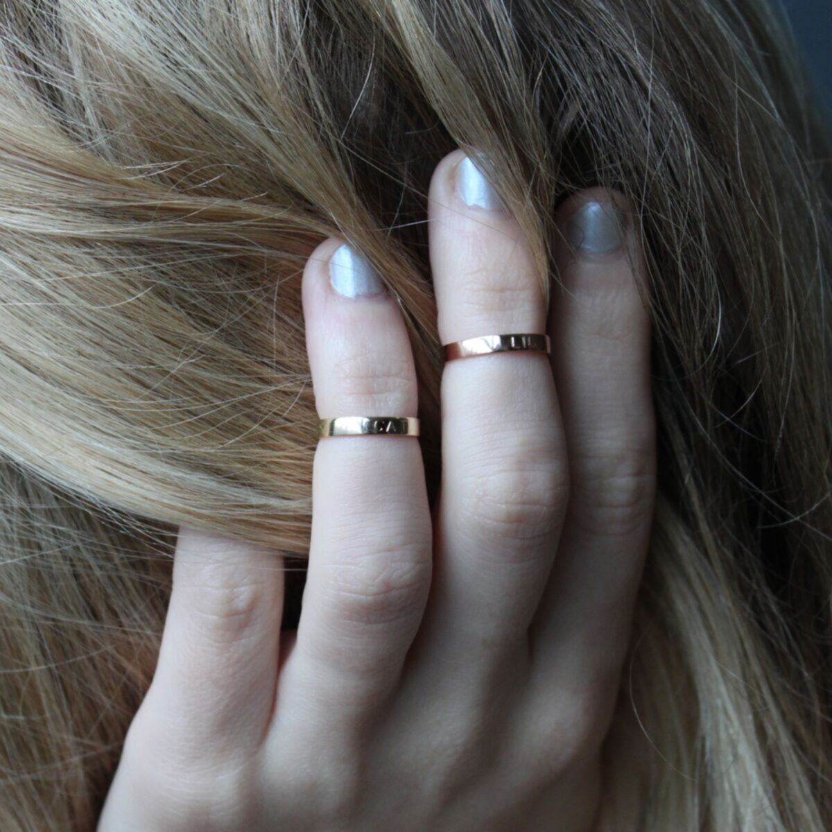 Tomboy First Knuckle Ring, Rose Gold image