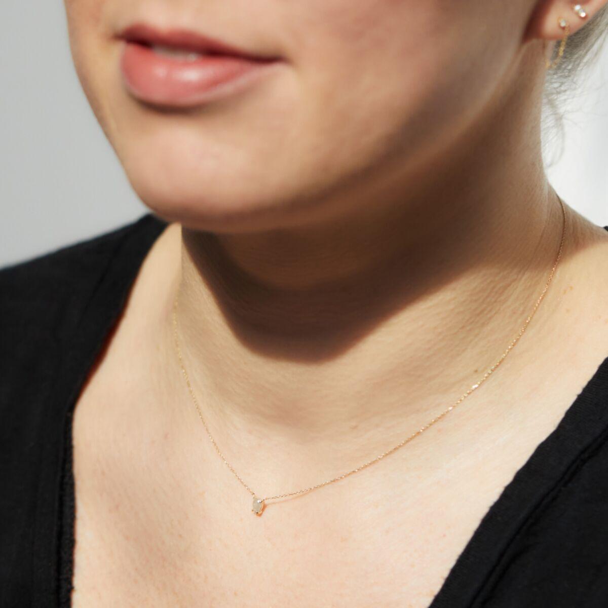 Icy Gray Diamond Necklace image