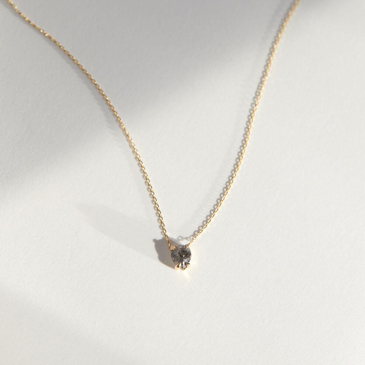 Dark Gray Diamond Necklace  image
