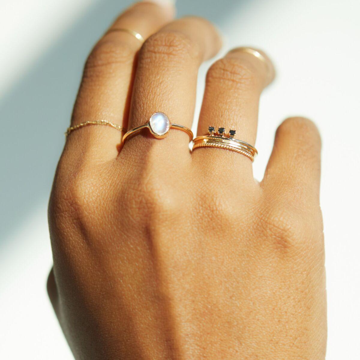 Floating Black Diamond Ring image
