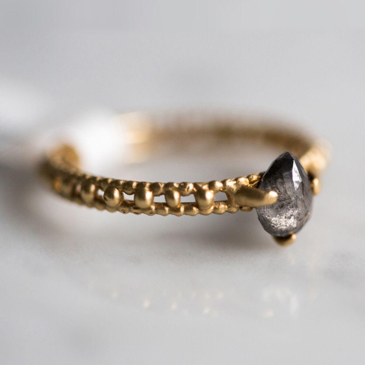 Rapunzel Grey Diamond Solitaire Ring image