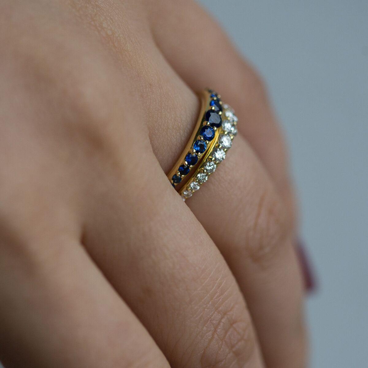 Bali Ring, Sapphire image