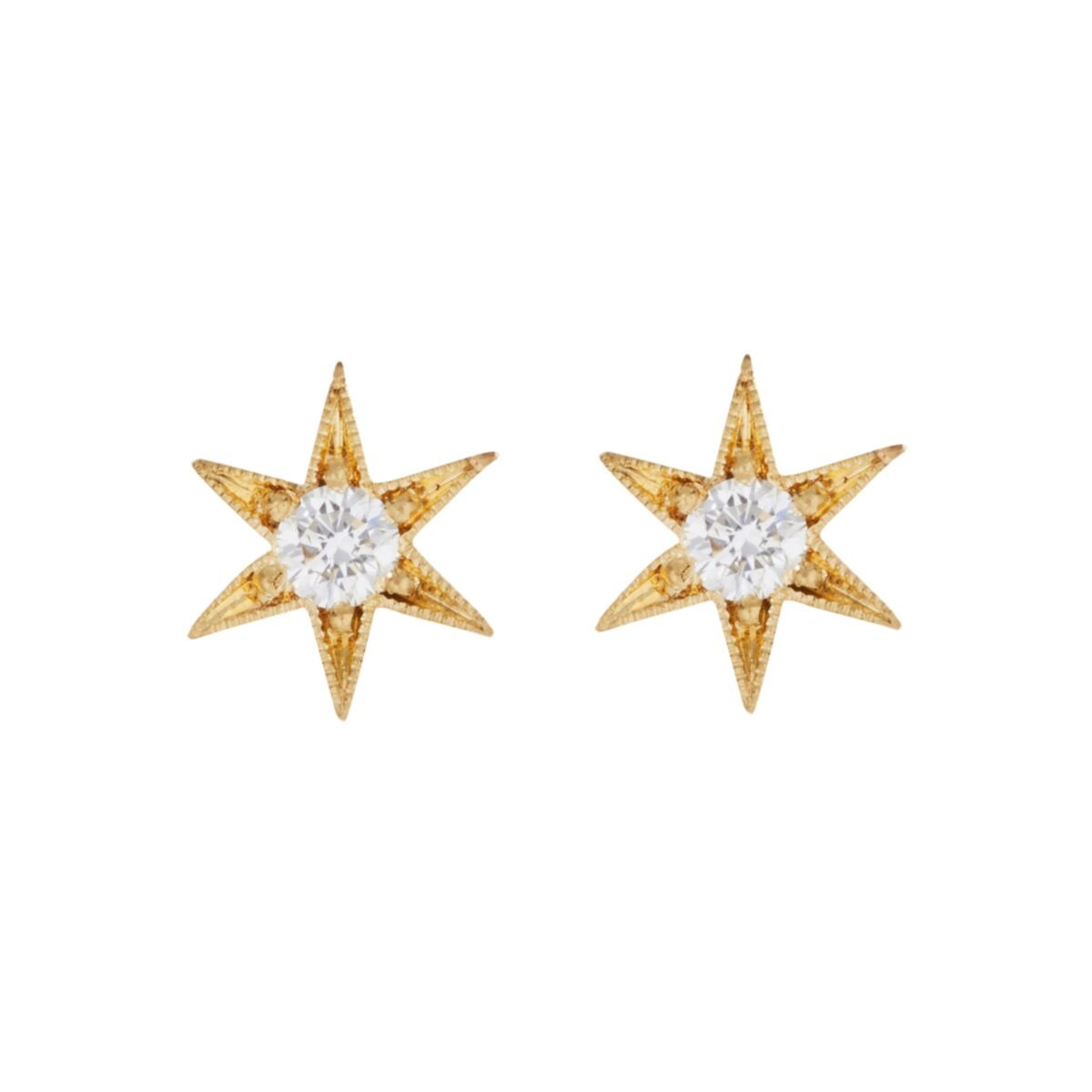 Six Point Star Stud Earring (Single) image