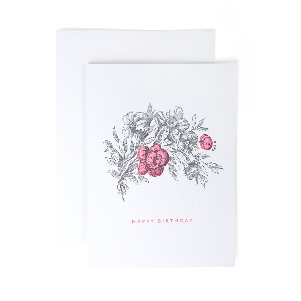 Hot Pink Flower Birthday Card image