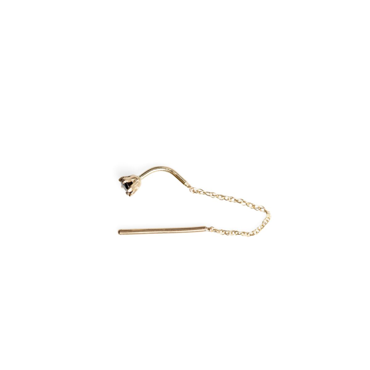 Stitch Earring, Black Diamond (SINGLE) image