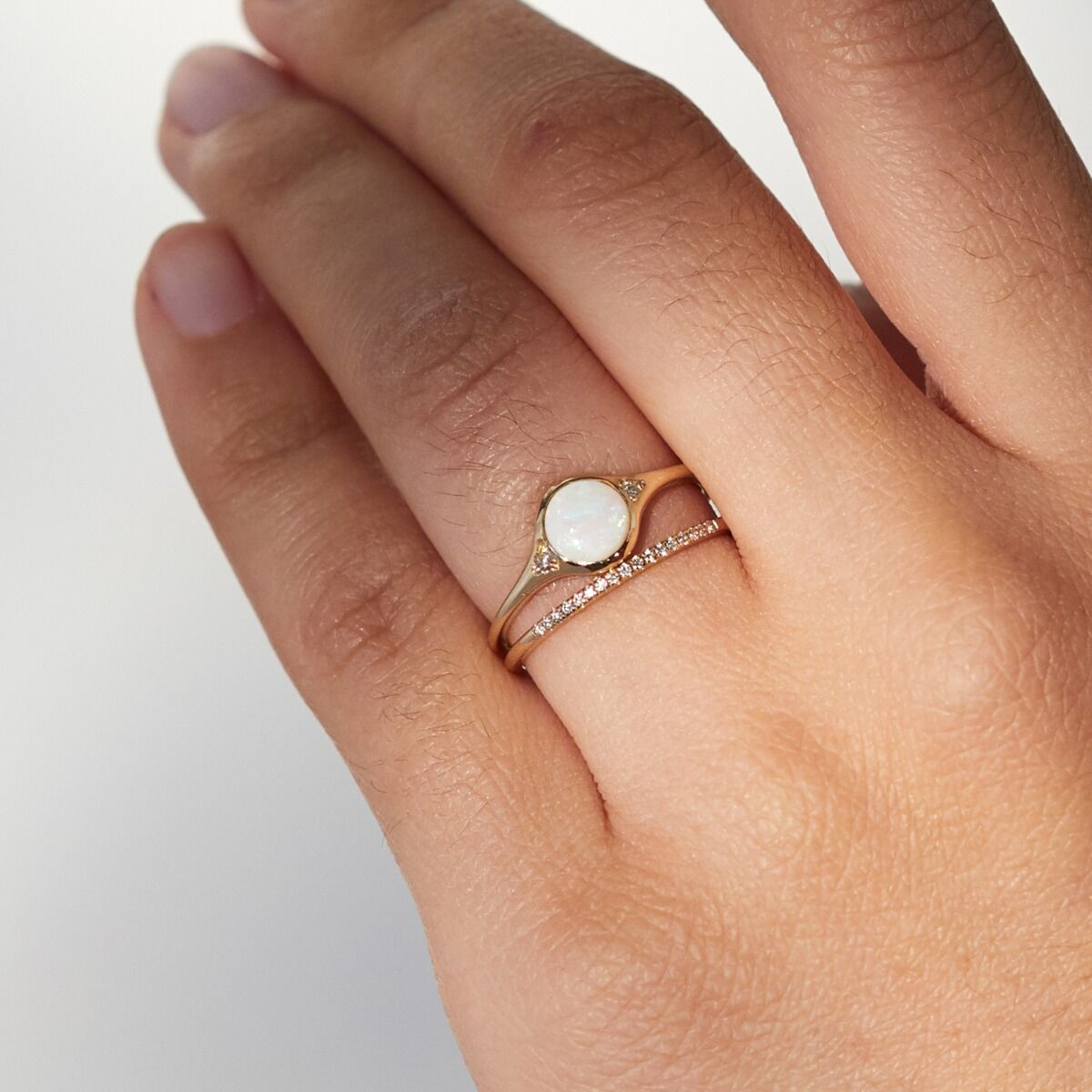Florence Solitaire Ring, Opal image