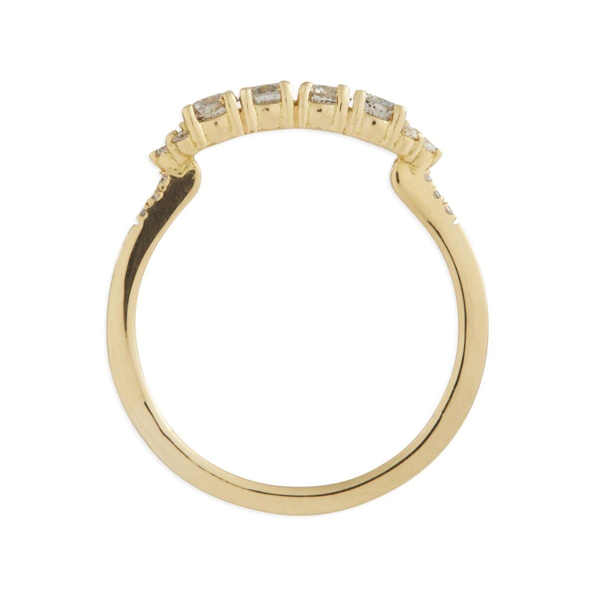 Ophelia Ring, Grey Diamonds image