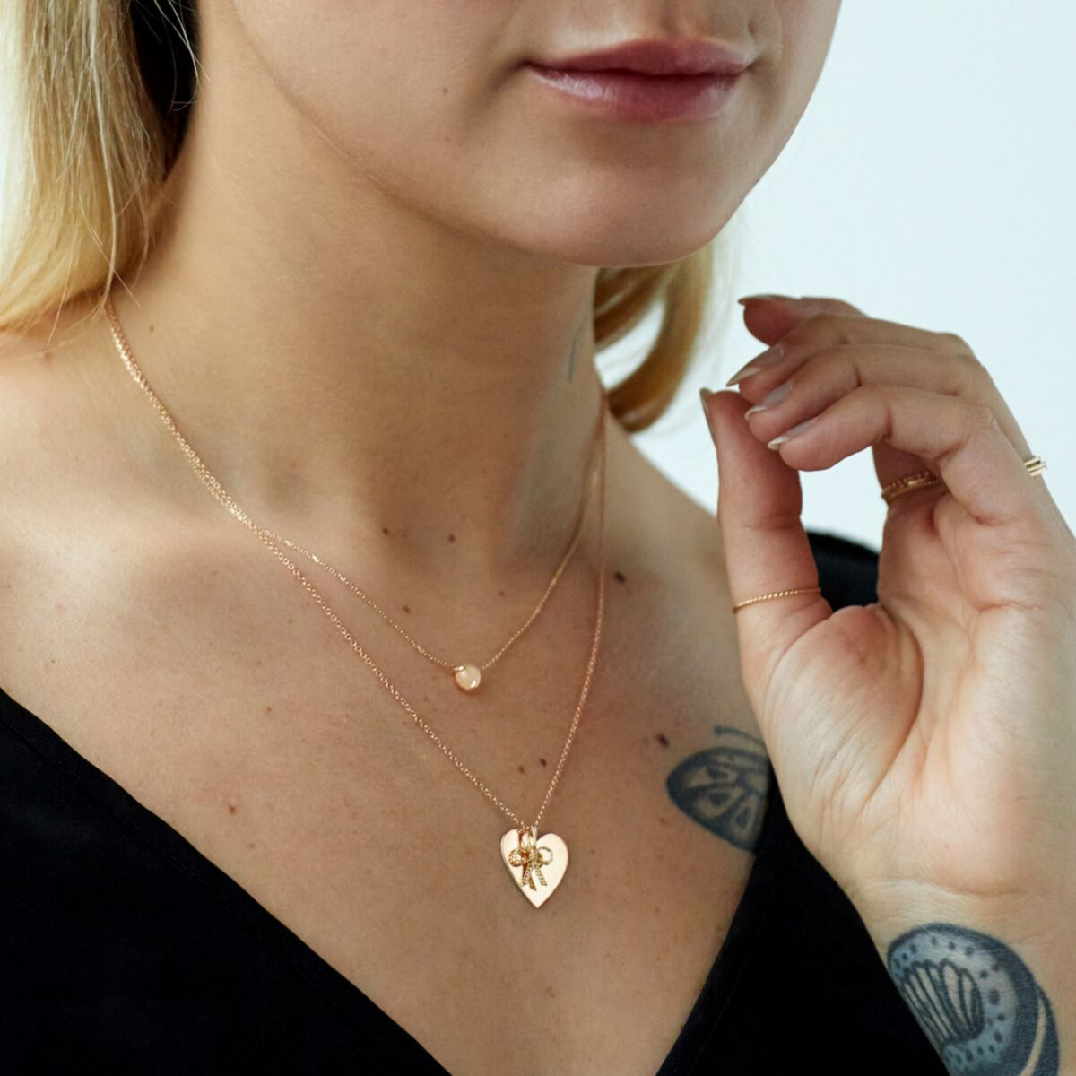 Peach Moonstone Necklace image