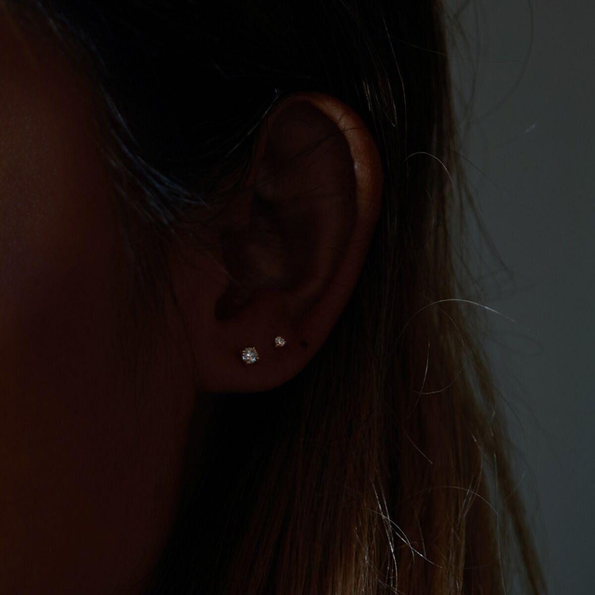 Petite Angel Hair Diamond Stud (single) image