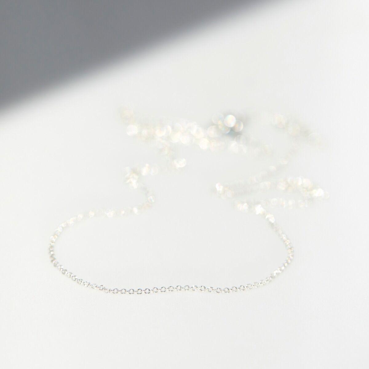 Adjustable Plain Chain, Silver image