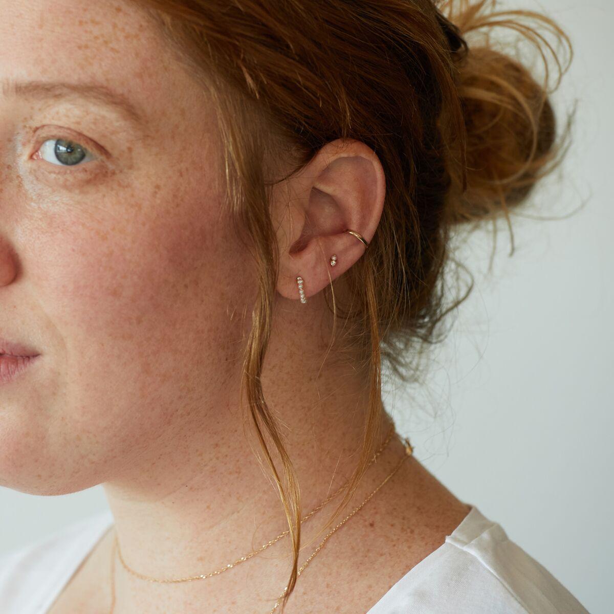 Baby Pearl Hoop (single) image
