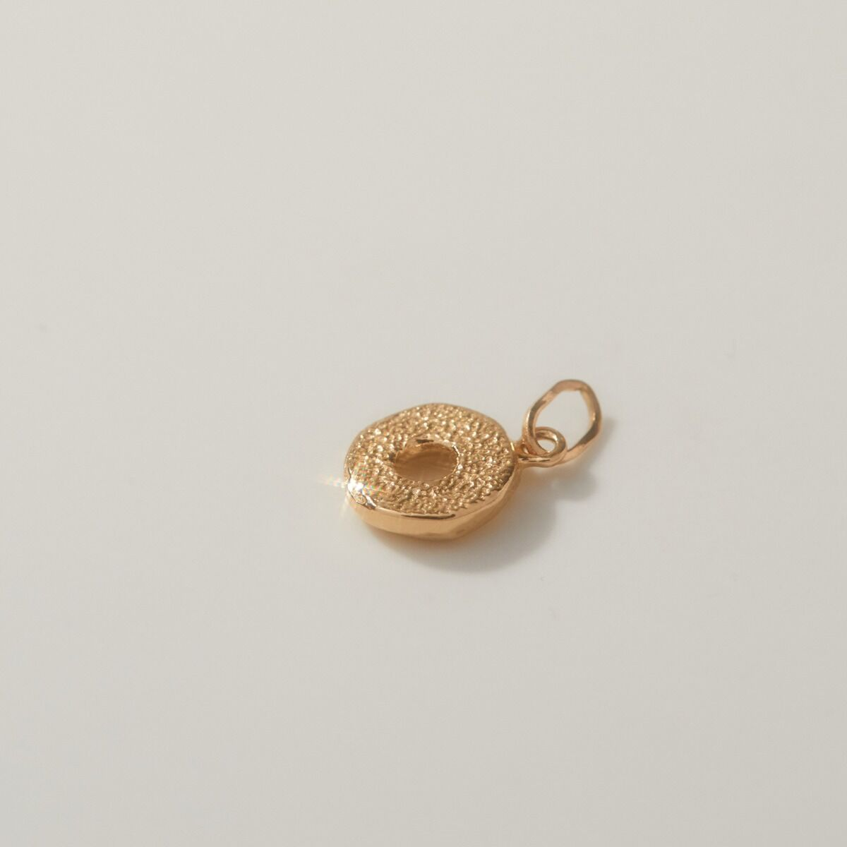 Better Half Bagel Charm, Yellow Gold image