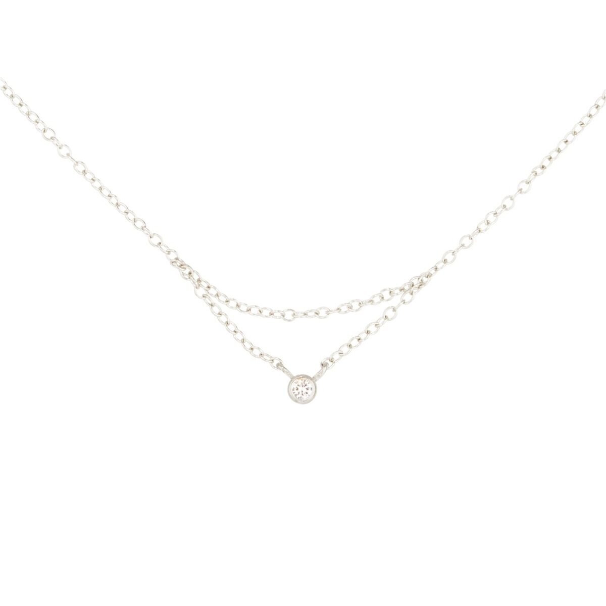 Chained to My Heart Necklace, White Gold image
