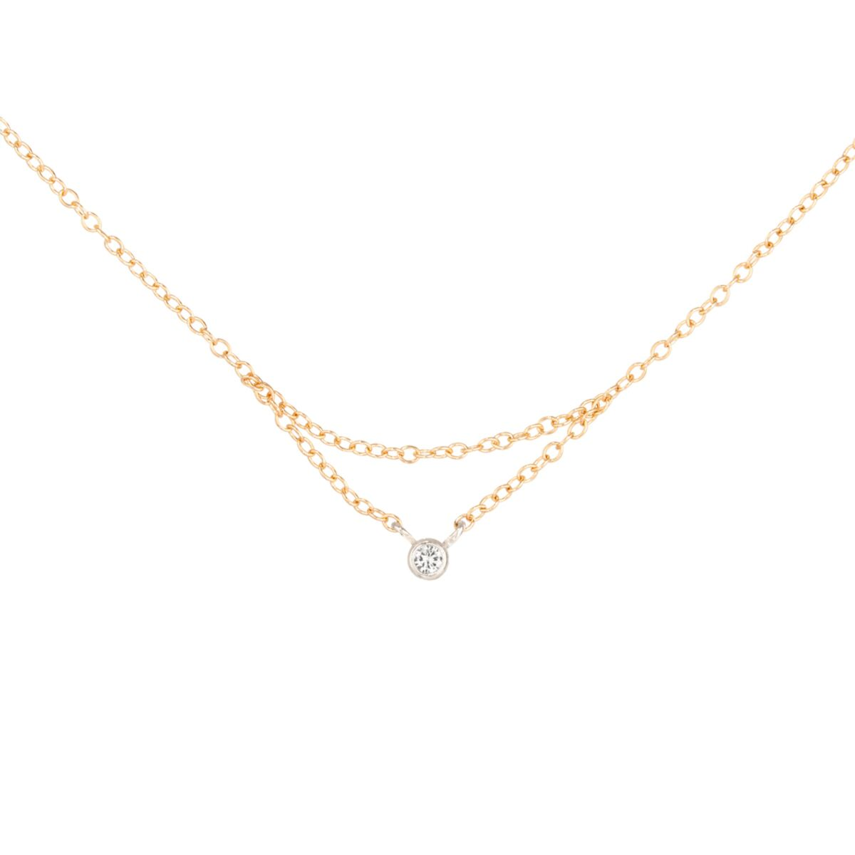 Chained to My Heart Necklace, Yellow Gold image