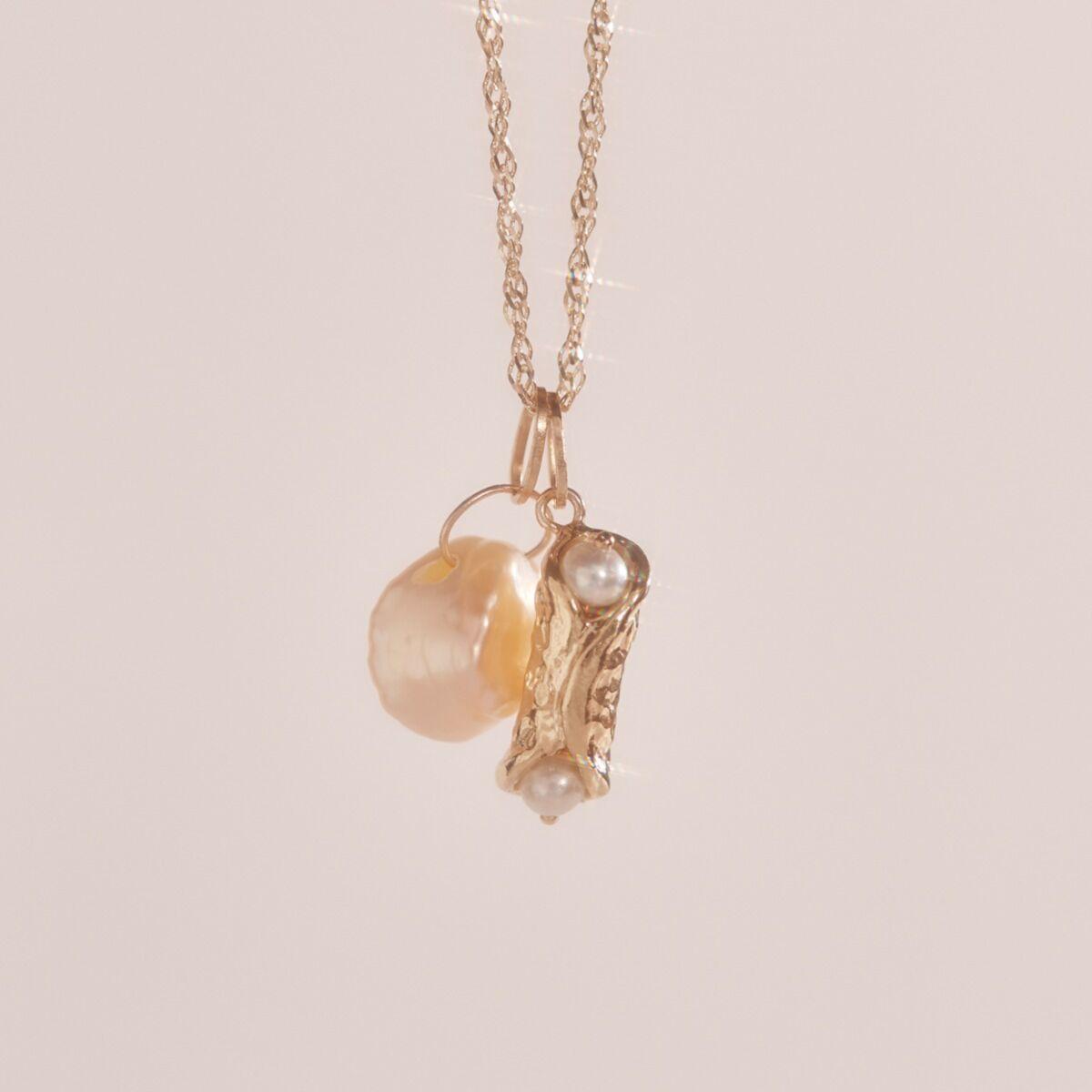 Holy Cannoli Charm, Yellow Gold image