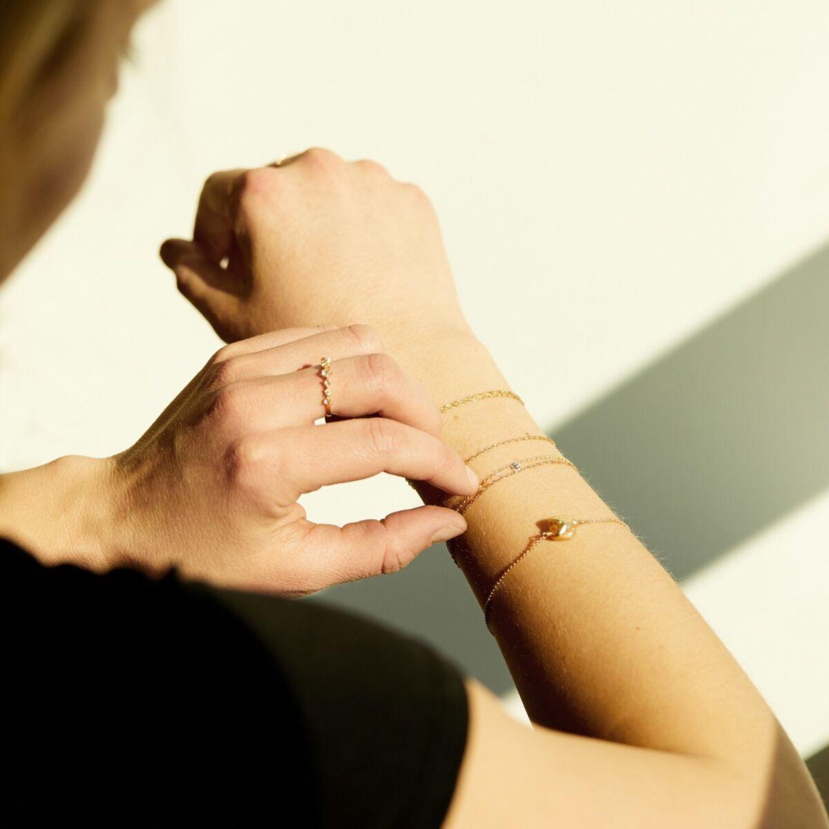 Diamond Pinprick Bracelet, rose gold image