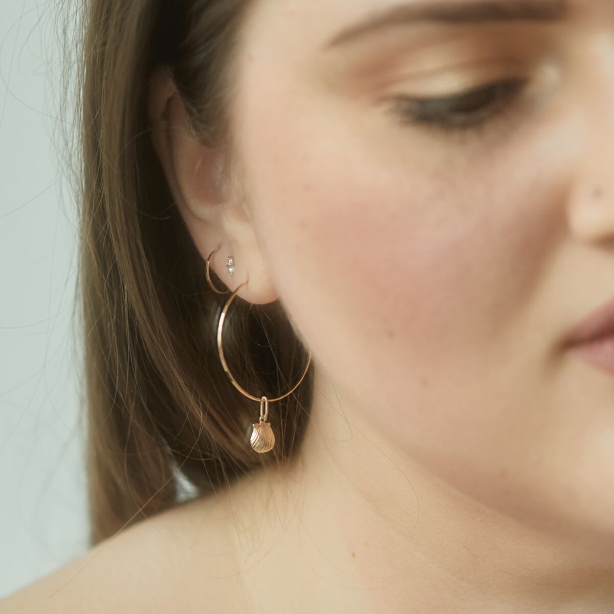 Hoop Dream Earring, yellow gold (single) image