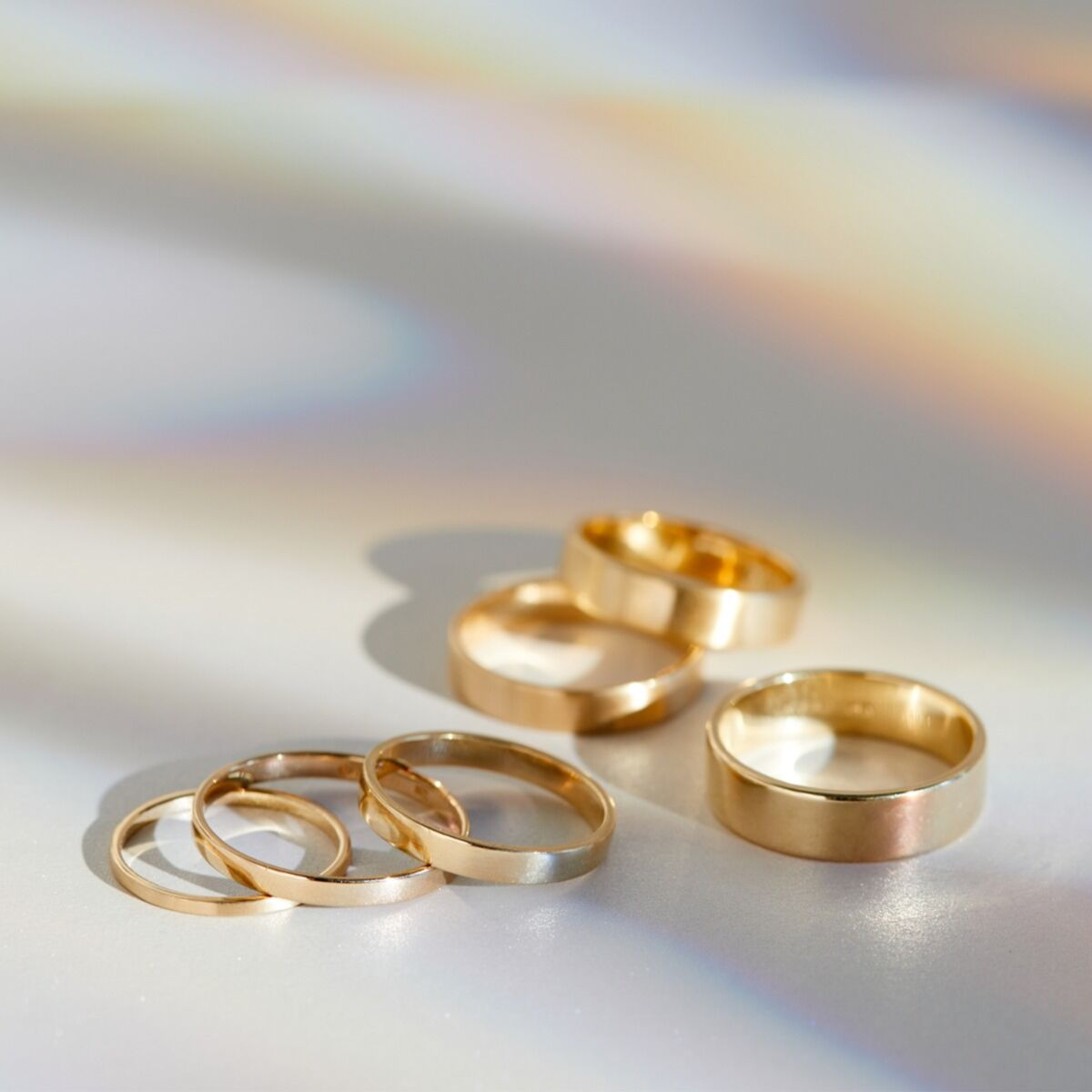 Catbird Classic Wedding Bands, Flat Band, 6mm image