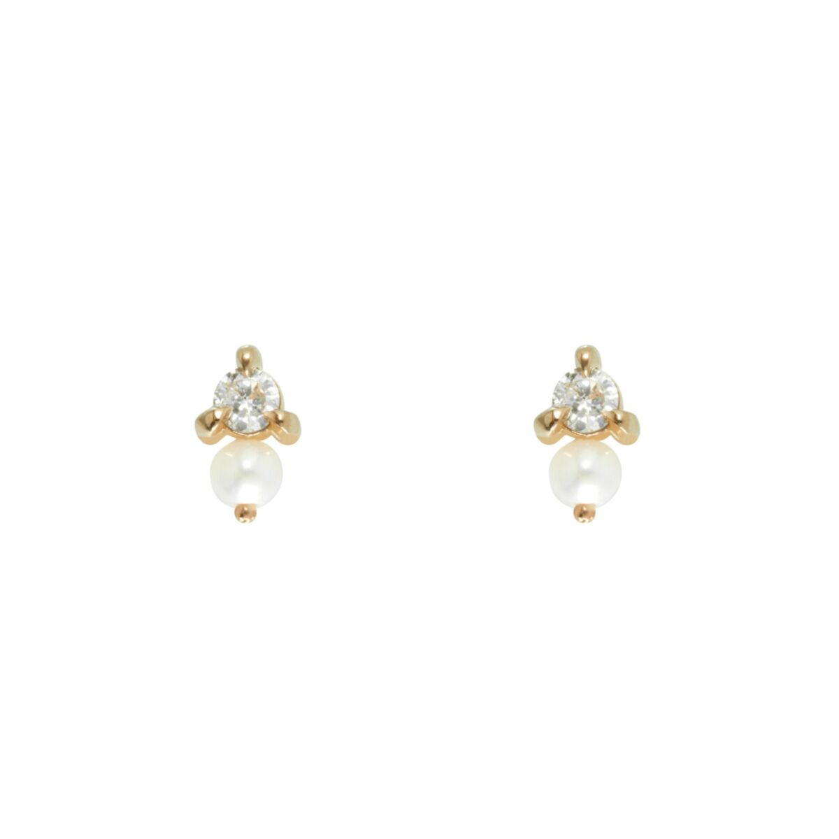 Dewdrop Stud, Yellow Gold (single) image