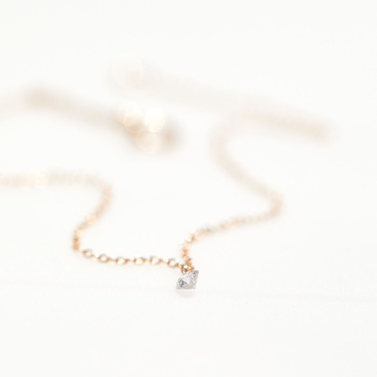 Diamond Pinprick Necklace, rose gold image