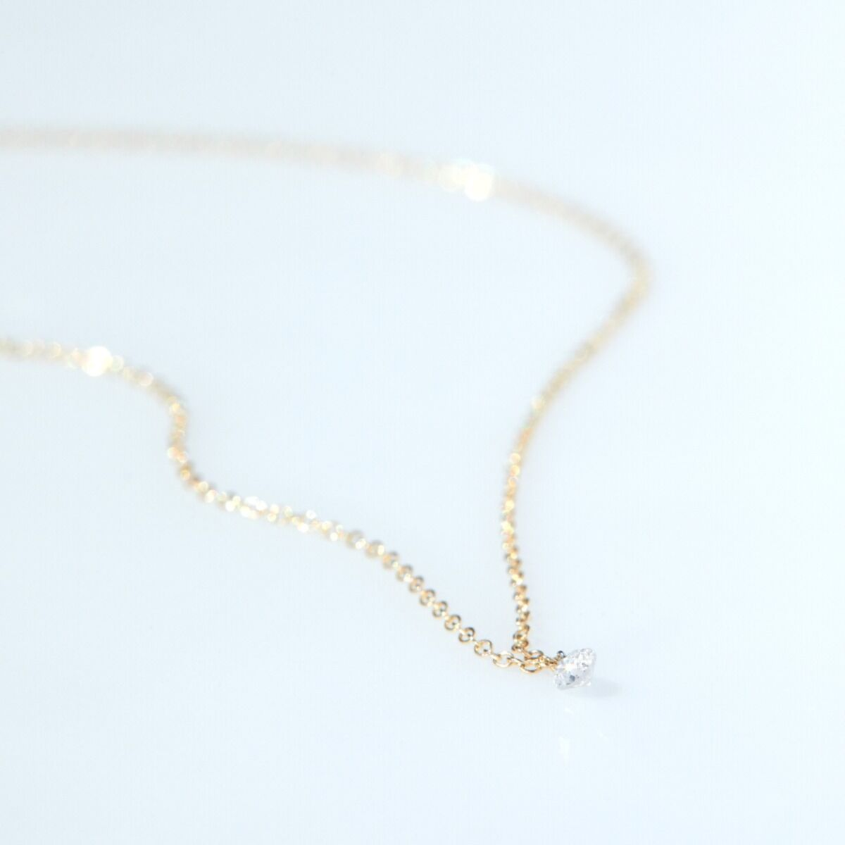 Diamond Pinprick Necklace, yellow gold image