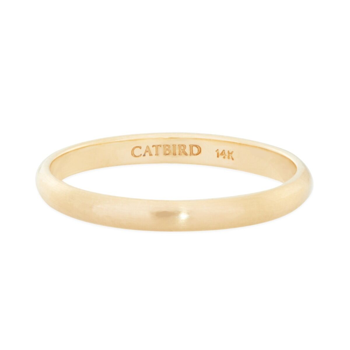 Catbird Classic Wedding Bands, Half Round Band, 2mm image