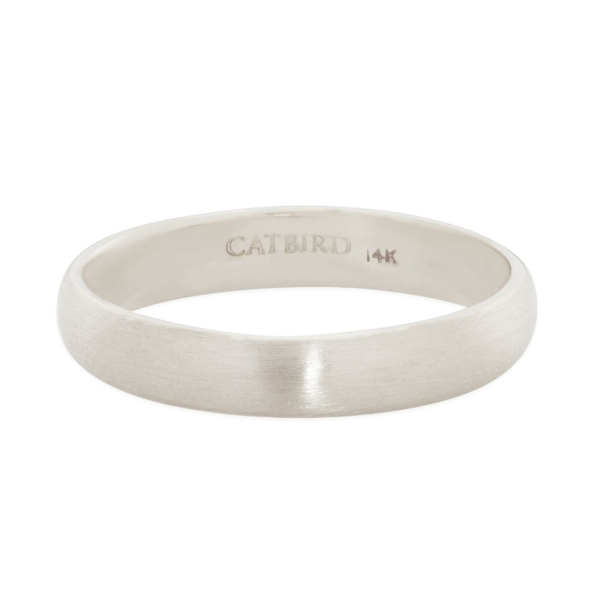 Catbird Classic Wedding Bands, Half Round Band, 3mm image