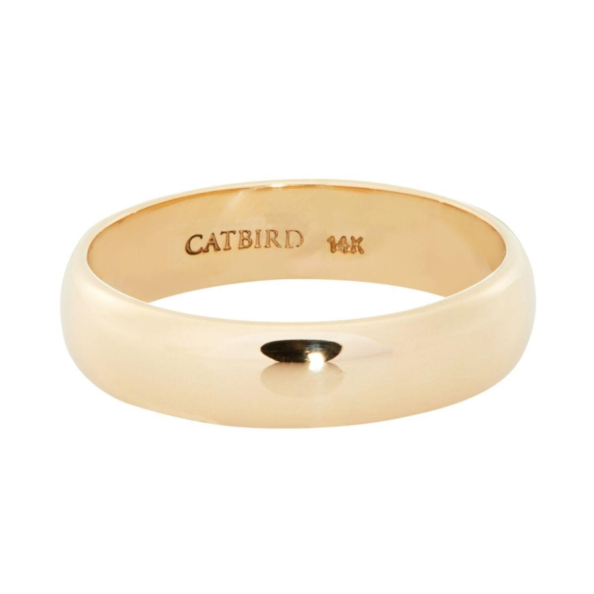 Catbird Classic Wedding Bands, Half Round Band, 4mm image