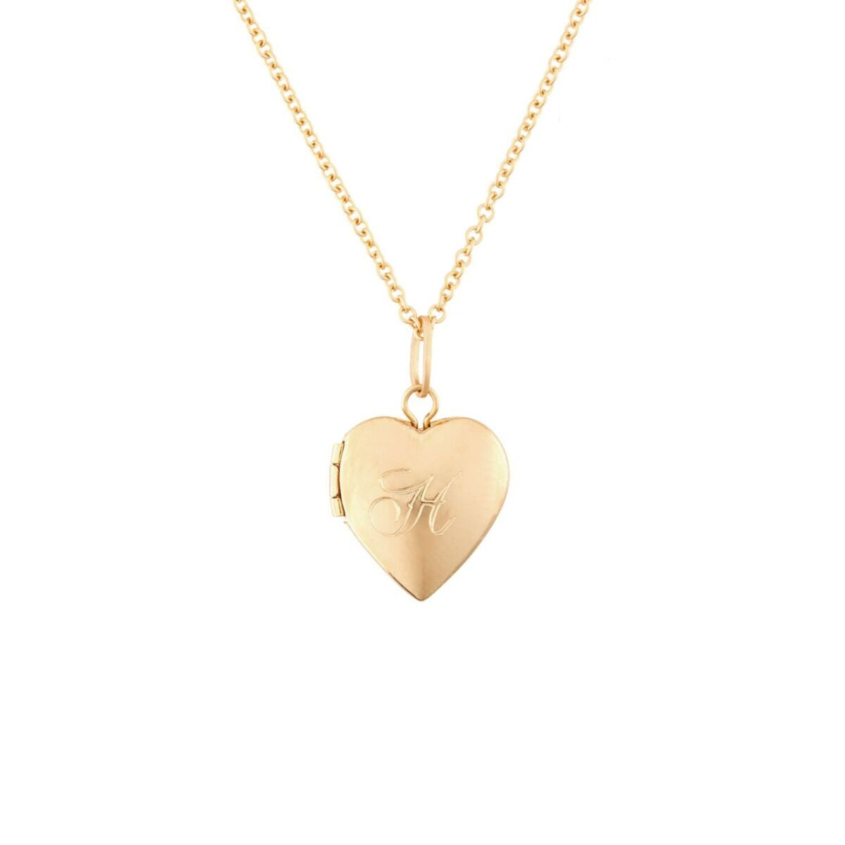Dollhouse Heart Locket, Gold image