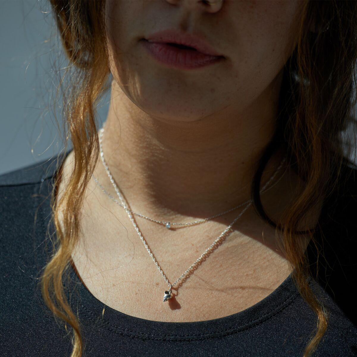 Diamond Pinprick Necklace, white gold image