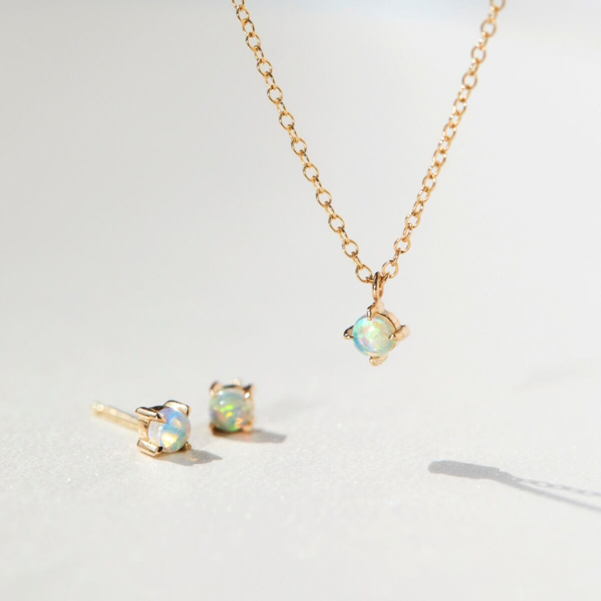 Sleeping Beauty Necklace, Opal Solitaire image