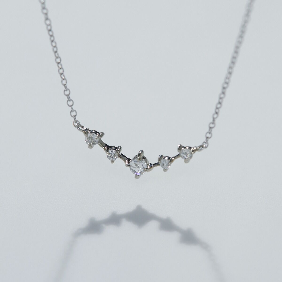 Snow Queen Necklace, white gold image