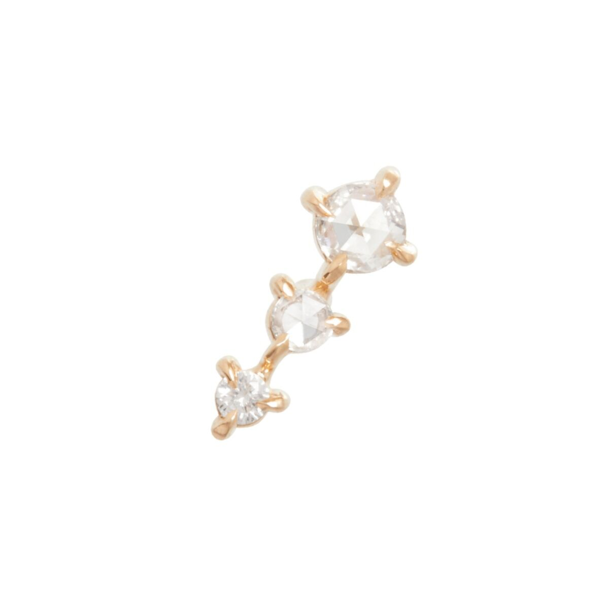 Snow Queen Stud, yellow gold (SINGLE) image