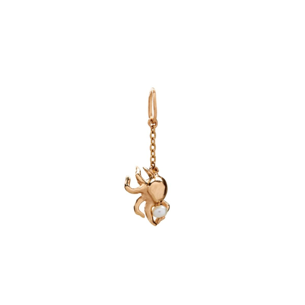 The Gentle Spider Charm, Yellow Gold image