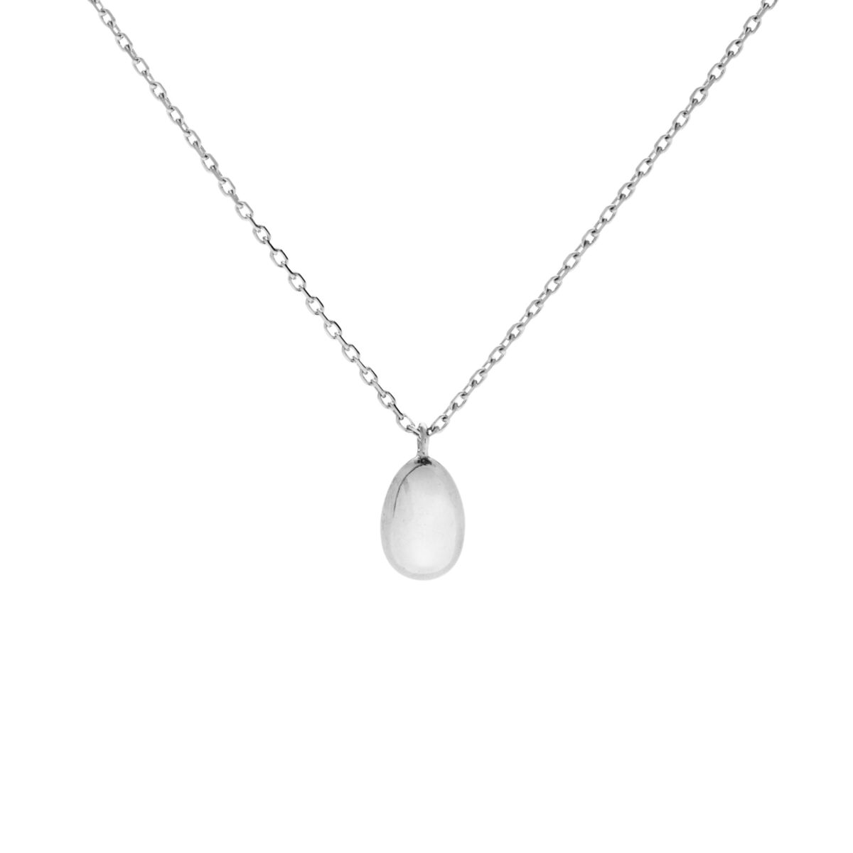 Swan Egg Necklace, Silver image