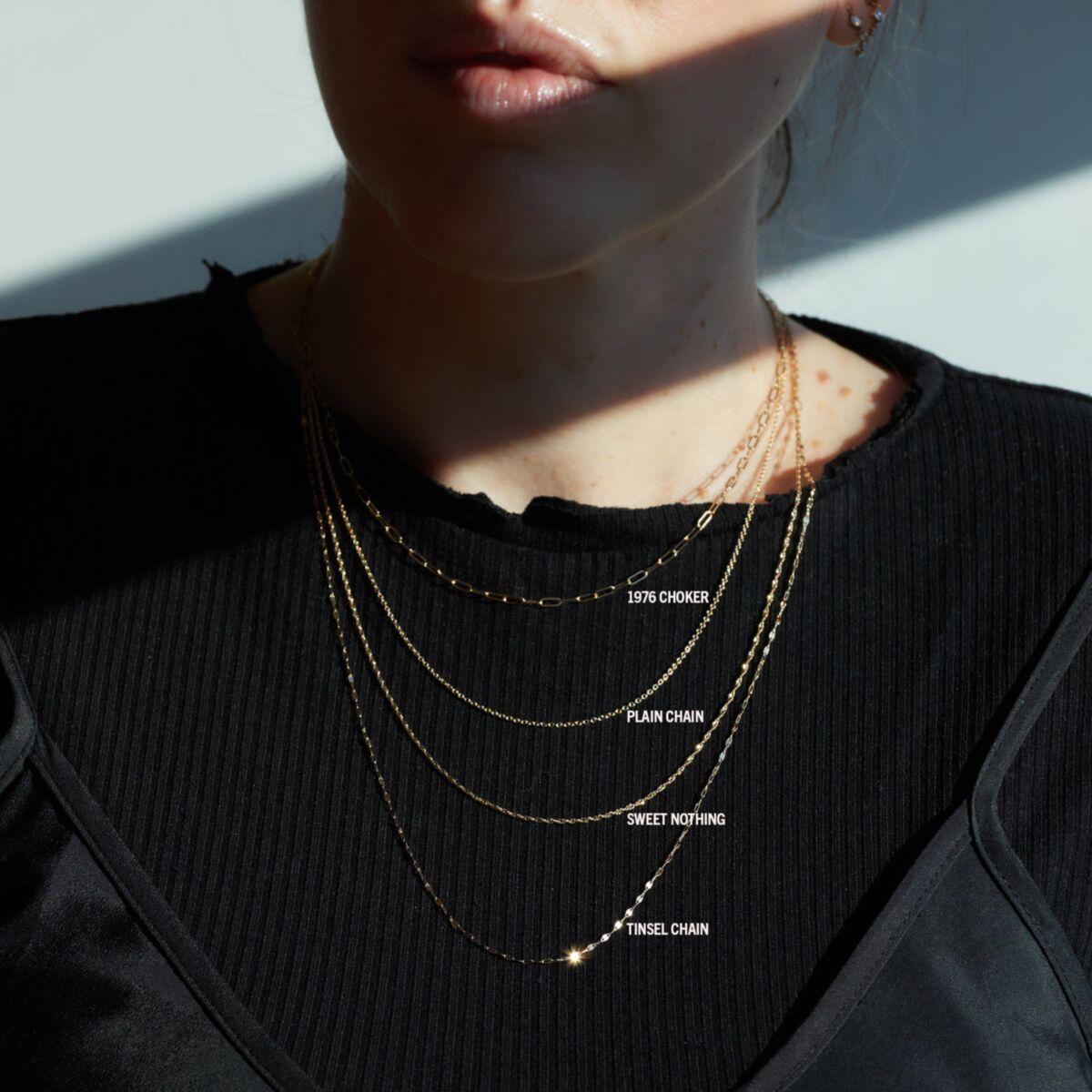Adjustable Plain Chain, Rose Gold image