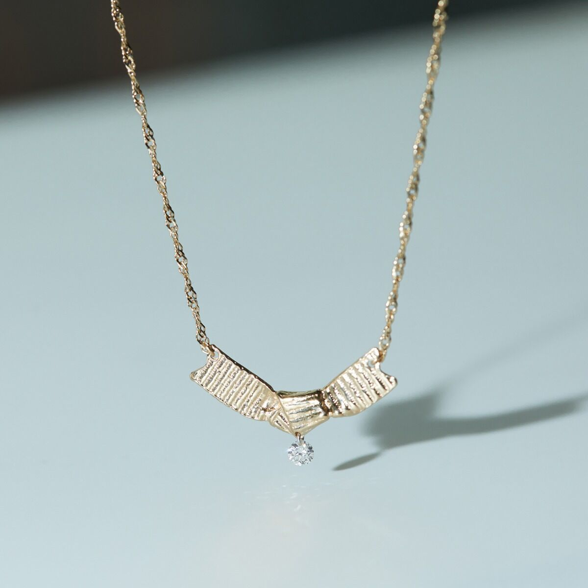 Ribbon Necklace, Diamond image