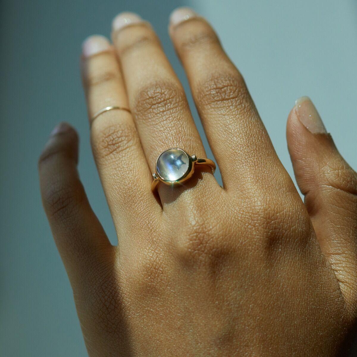 Secret Star Moonstone Ring image