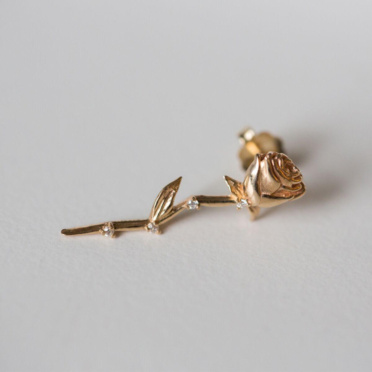Celestial Rose Earring (single) image