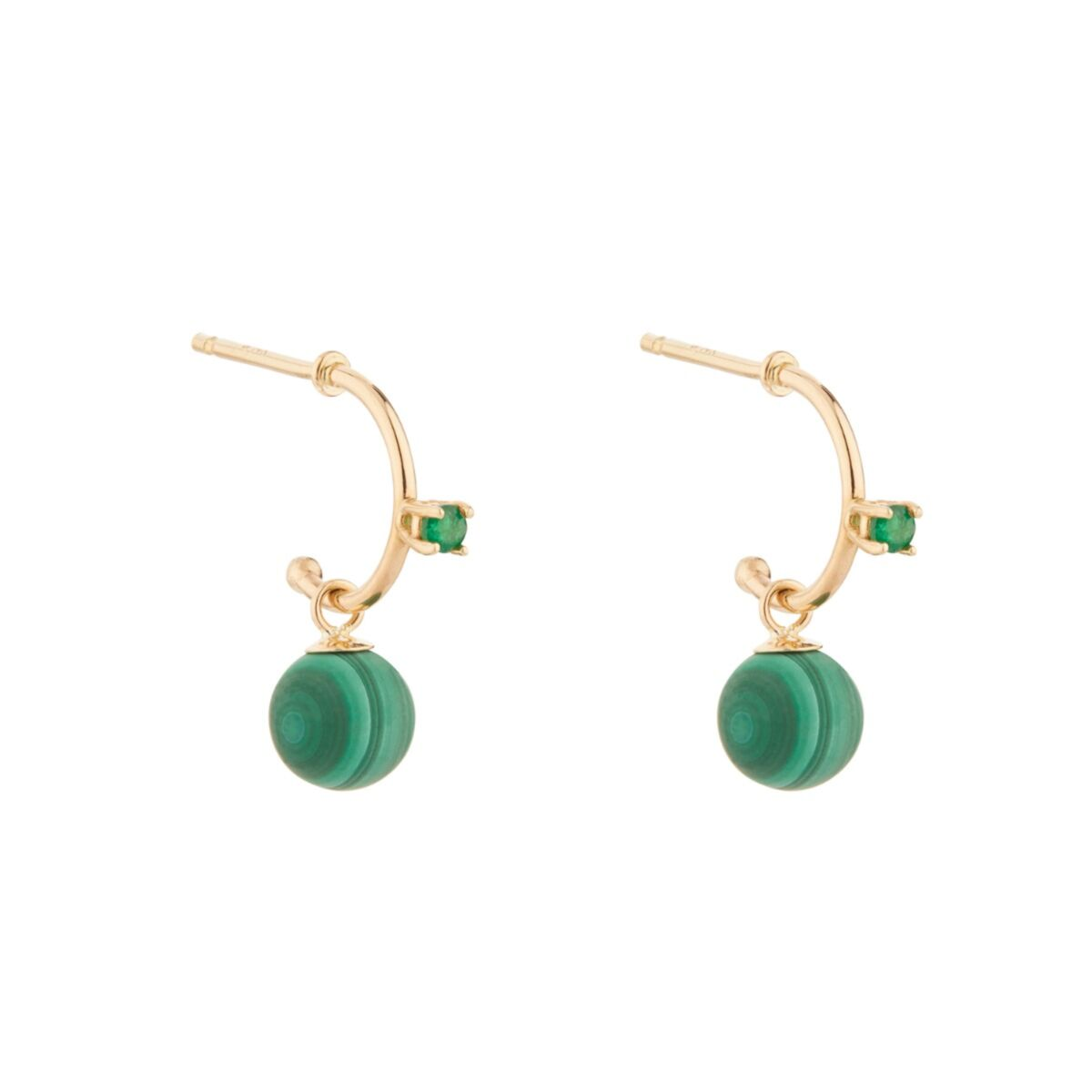 Emerald and Malachite Hoop (single) image