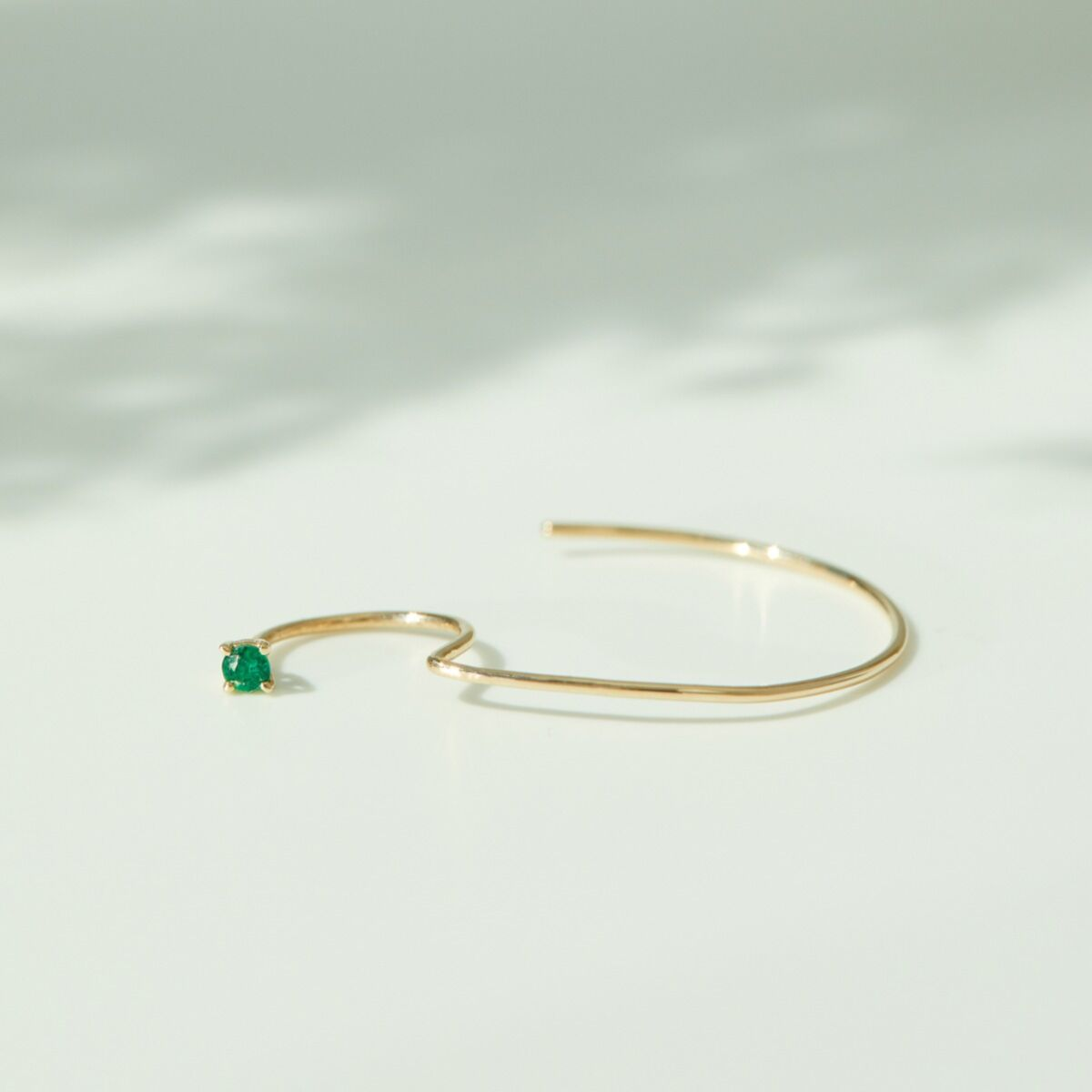 Large Cerceau Hoop, Emerald (single) image