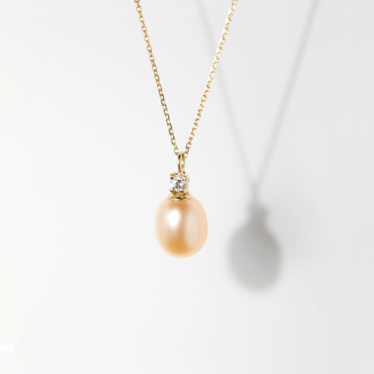 Pearl and White Diamond Necklace image