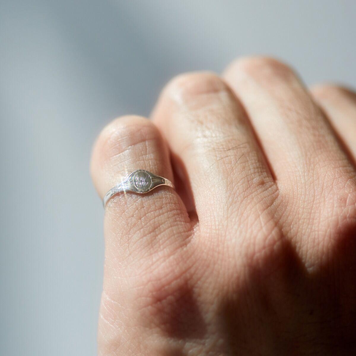 Baby Cygnet Ring, Silver image
