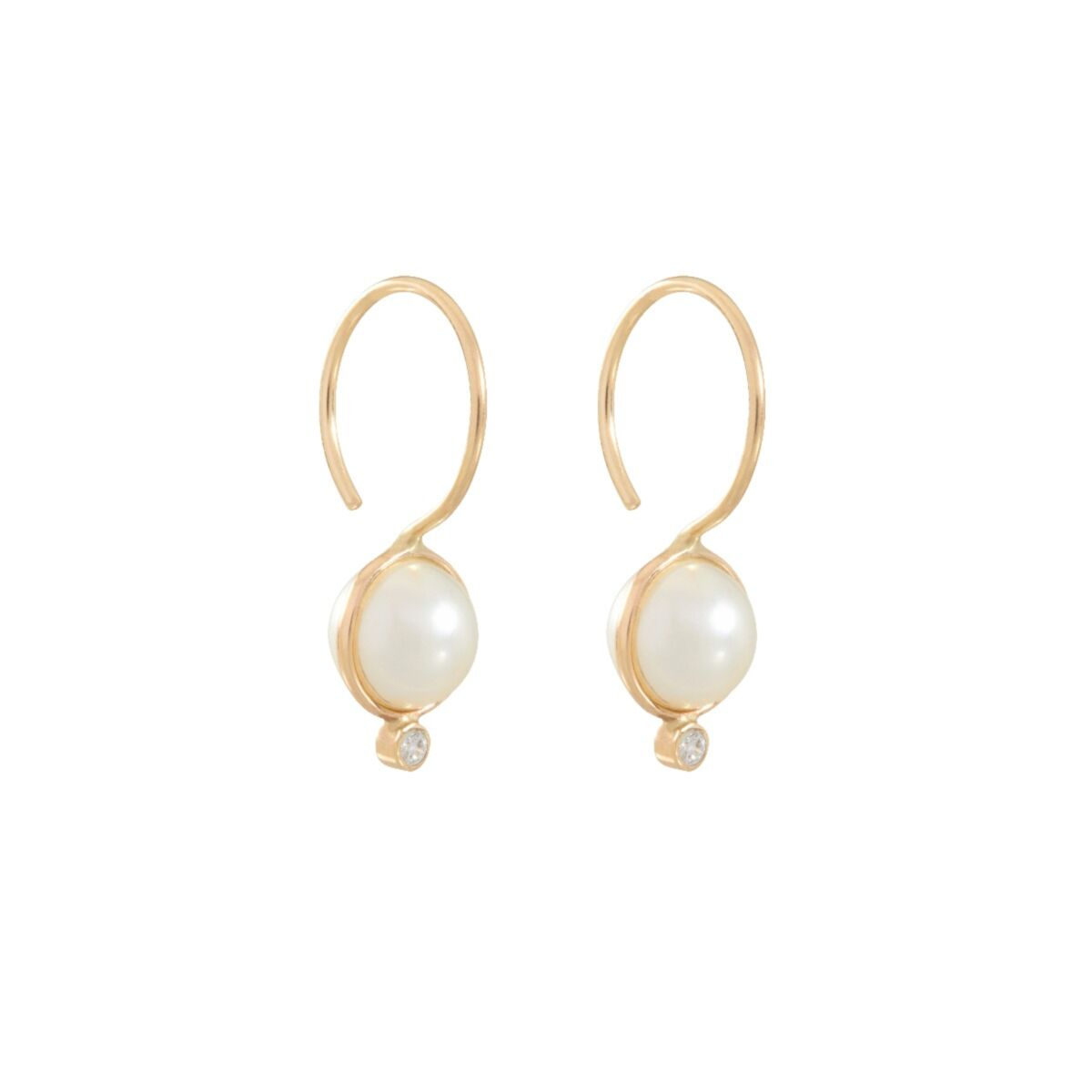 Diamond Moon Drop Earrings image