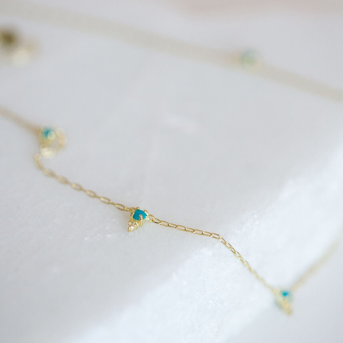 Devere Necklace,  Turquoise and Diamond image
